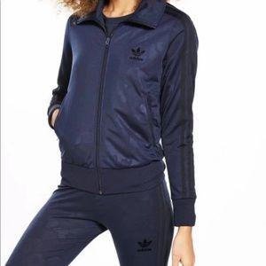 Adidas Jacket & Leggings in Blue Camo